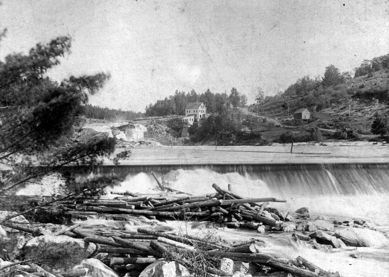 Two views of Rumford Falls
